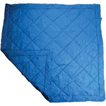 FIELD QUILT - DOUBLE - SOLID BLUE